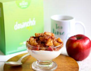 Compota de iogurte com maçã assada 🍎